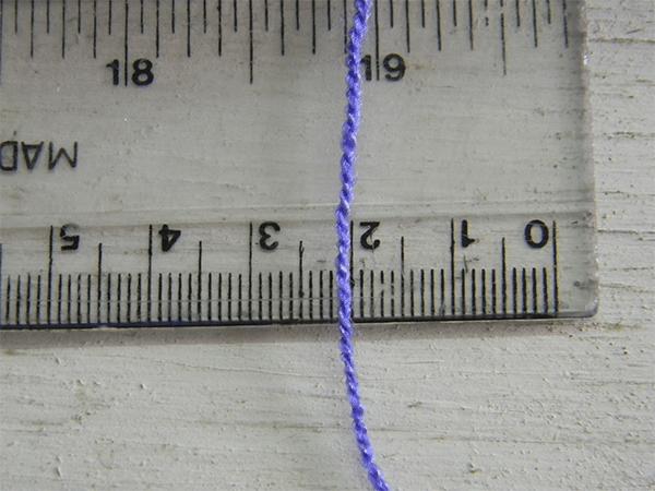 Como medirComo medir el grueso de los hilos para tejer mandalas