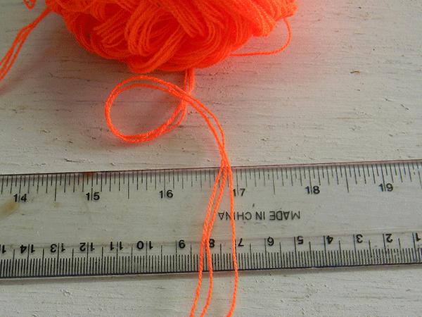 Como medir el grueso de los hilos para tejer mandalas