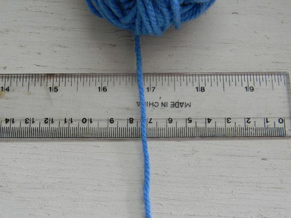 Como medir las lanas para tejer mandalas